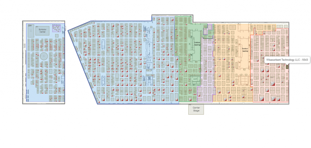 Our location in Hall A, the large space on the right is the main Convention space, the far left is floor B1