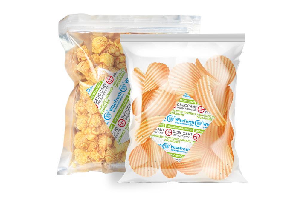 WiseFresh™ Montmorillonite Desiccant Inside Food Package