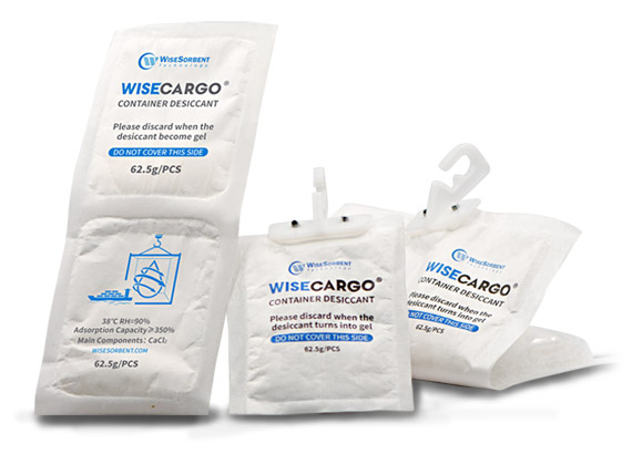 wisecargo container desiccant packets
