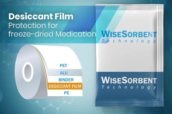 WisePac® Aluminum Desiccant Film Protection for Freeze-dried Medication